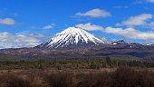 Ngauruhoe volcano in Tongariro National Park, New Zealand