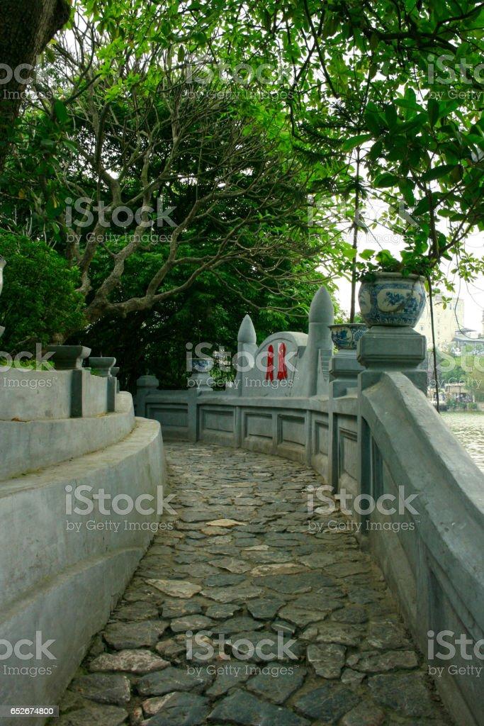 Ngoc Son Temple, Hanoi stock photo