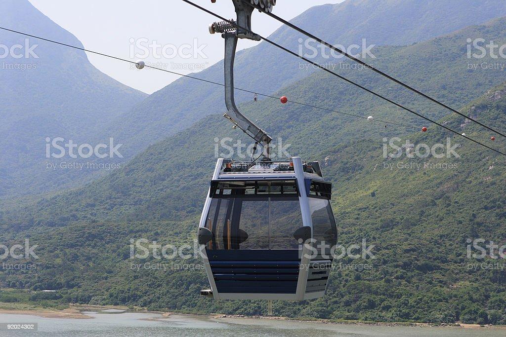 Ngong Ping 360 Skyrail in Hong Kong royalty-free stock photo