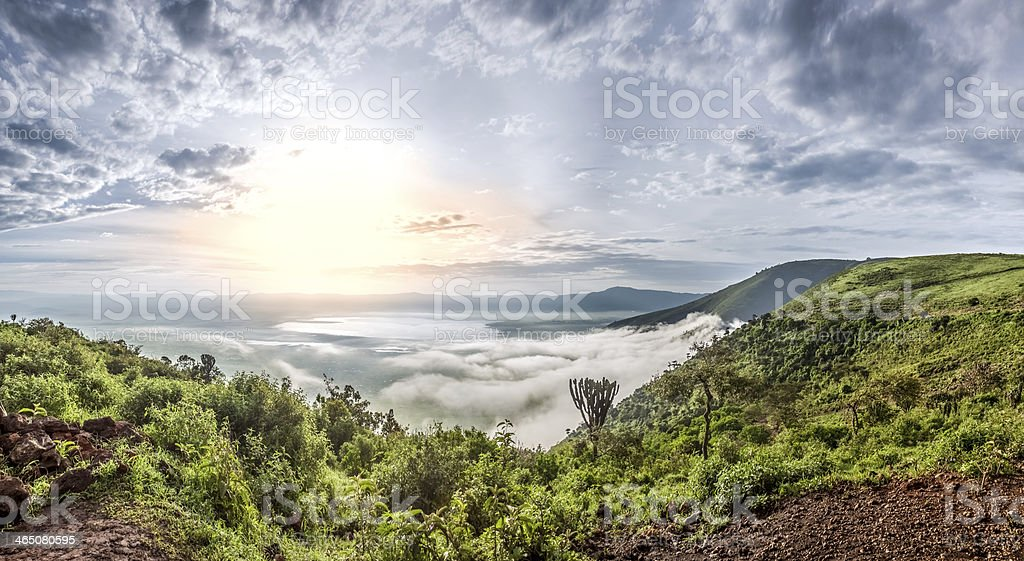 Ngorongoro Crater Conservation Area, Tanzania stock photo