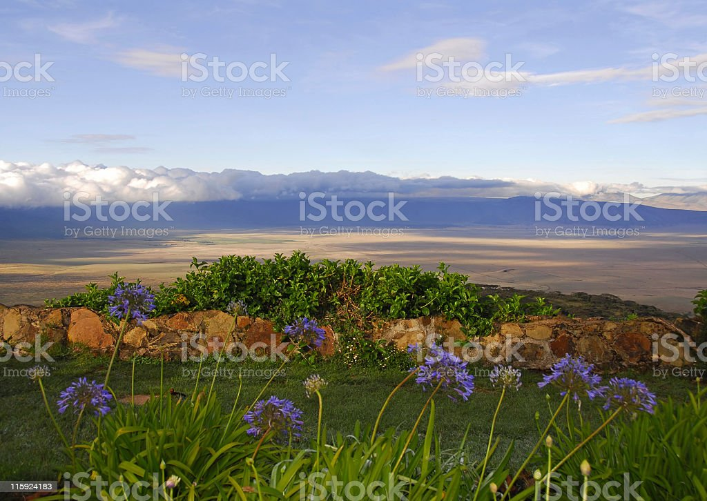 Ngorongoro crater early in the morning ,Tanzania stock photo