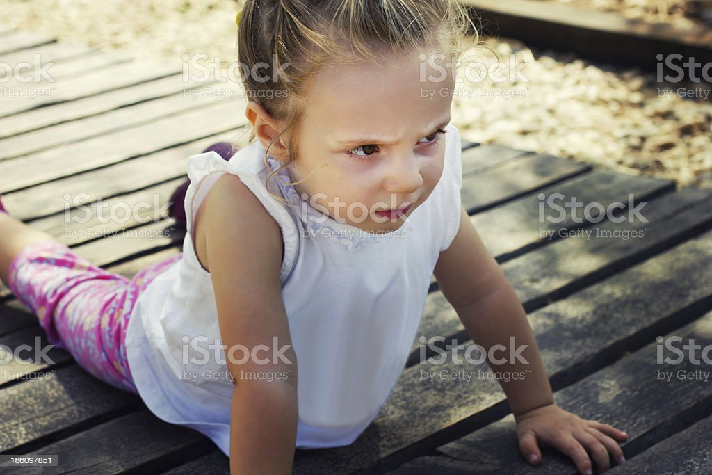 ?ngry little girl royalty-free stock photo