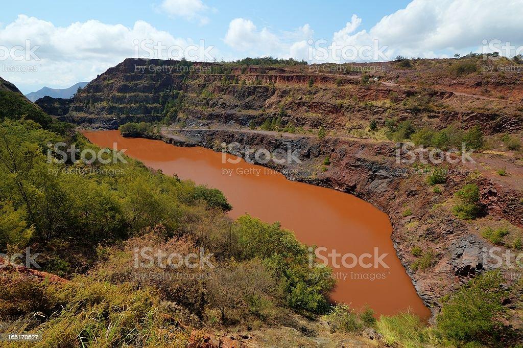 Ngwenya Iron Ore Mine, Swaziland stock photo