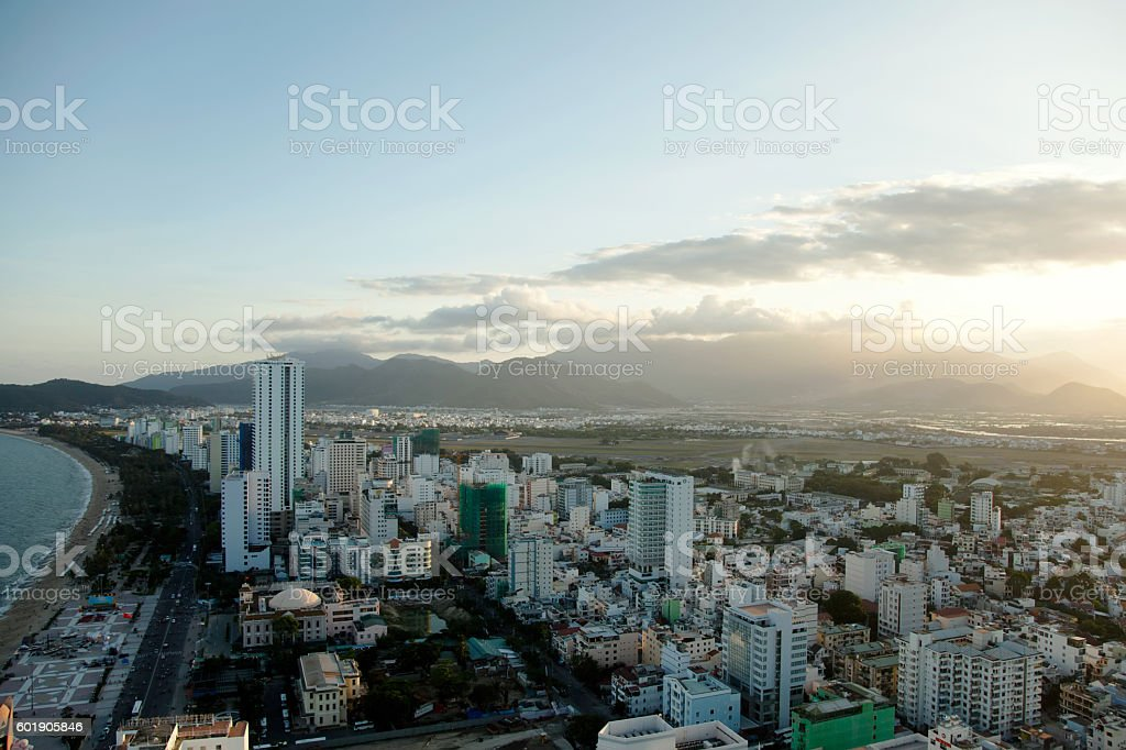 NhaTrang from the top stock photo