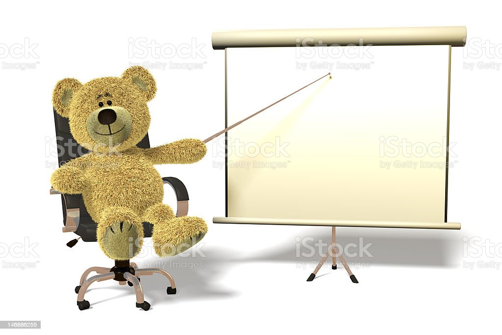 Nhi Bear office presentation. royalty-free stock photo