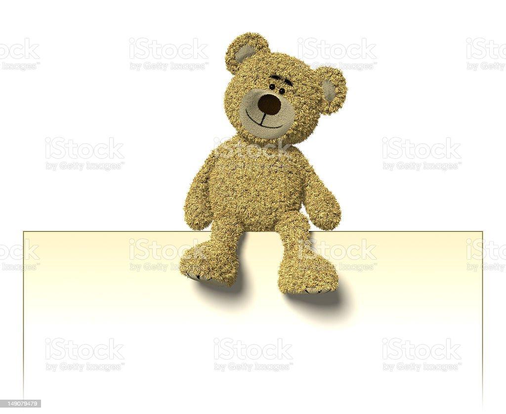 Nhi Bear sitting on a billboard royalty-free stock photo