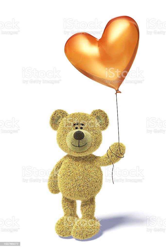 Nhi Bear with a balloon royalty-free stock photo