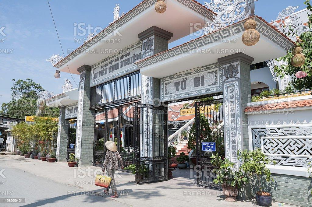 Ni Vien Tinh Nghiem Temple In My Tho, Vietnam stock photo