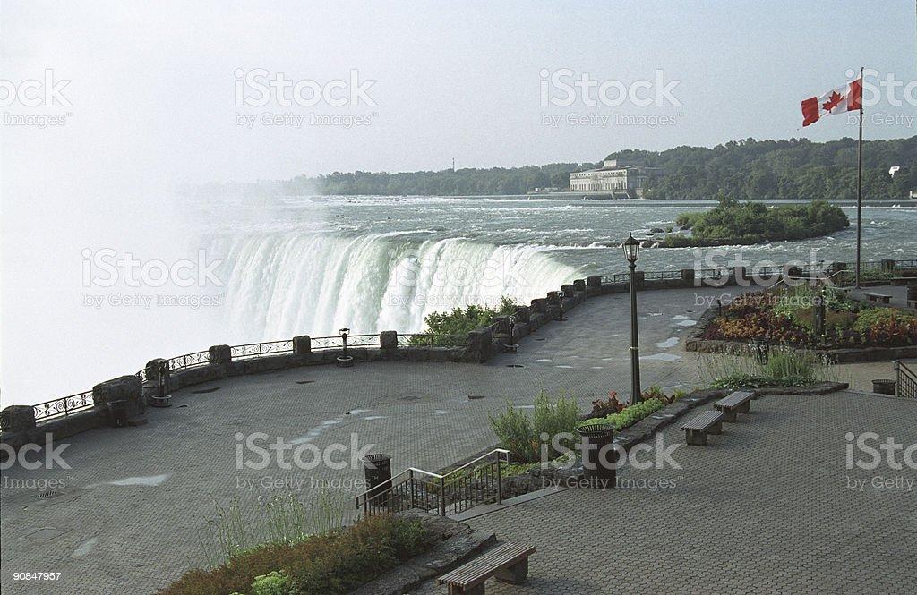 Niagara and Table rock royalty-free stock photo