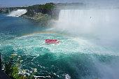 Niagara Falls and a cruise ship