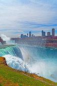 Niagara Falls and Skyscrapers in Canada