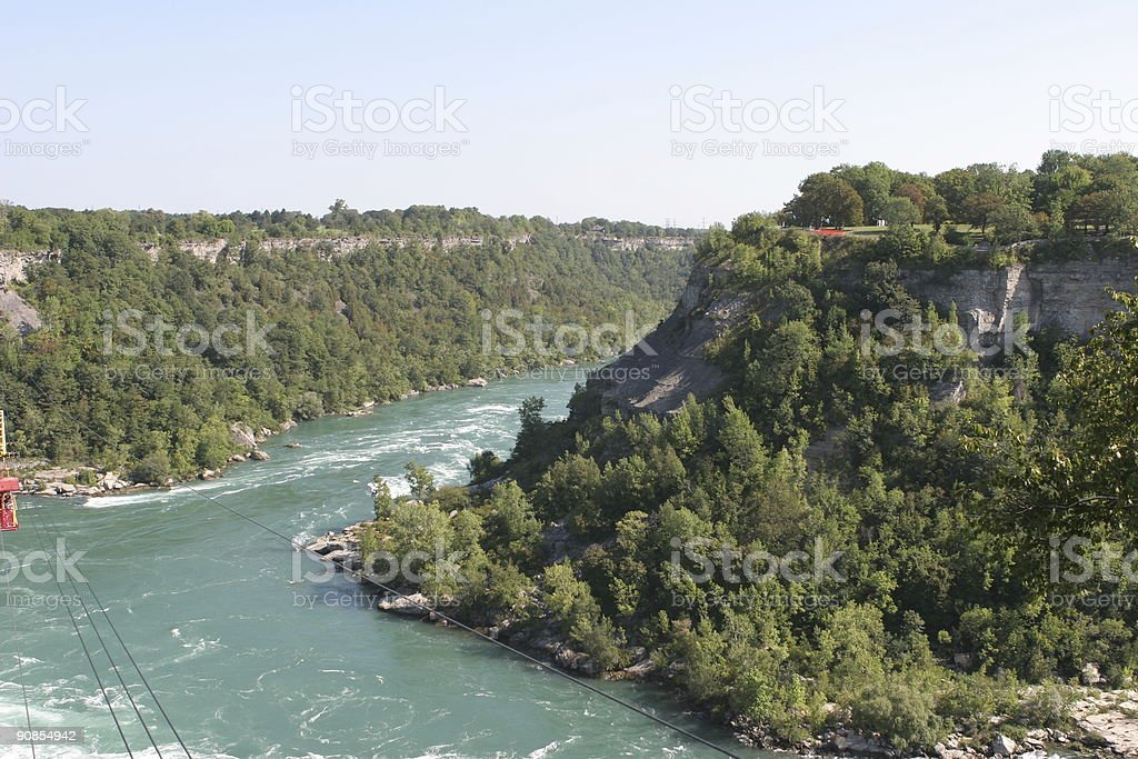 Niagara Falls and Whirlpool cable car royalty-free stock photo