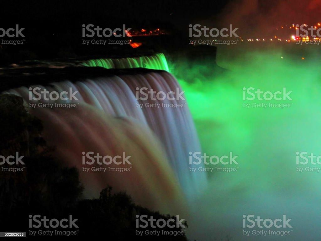 Niagara Falls at night stock photo