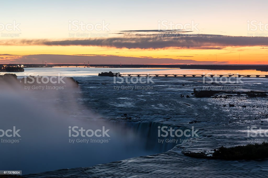 Niagara Falls at Sunrise stock photo