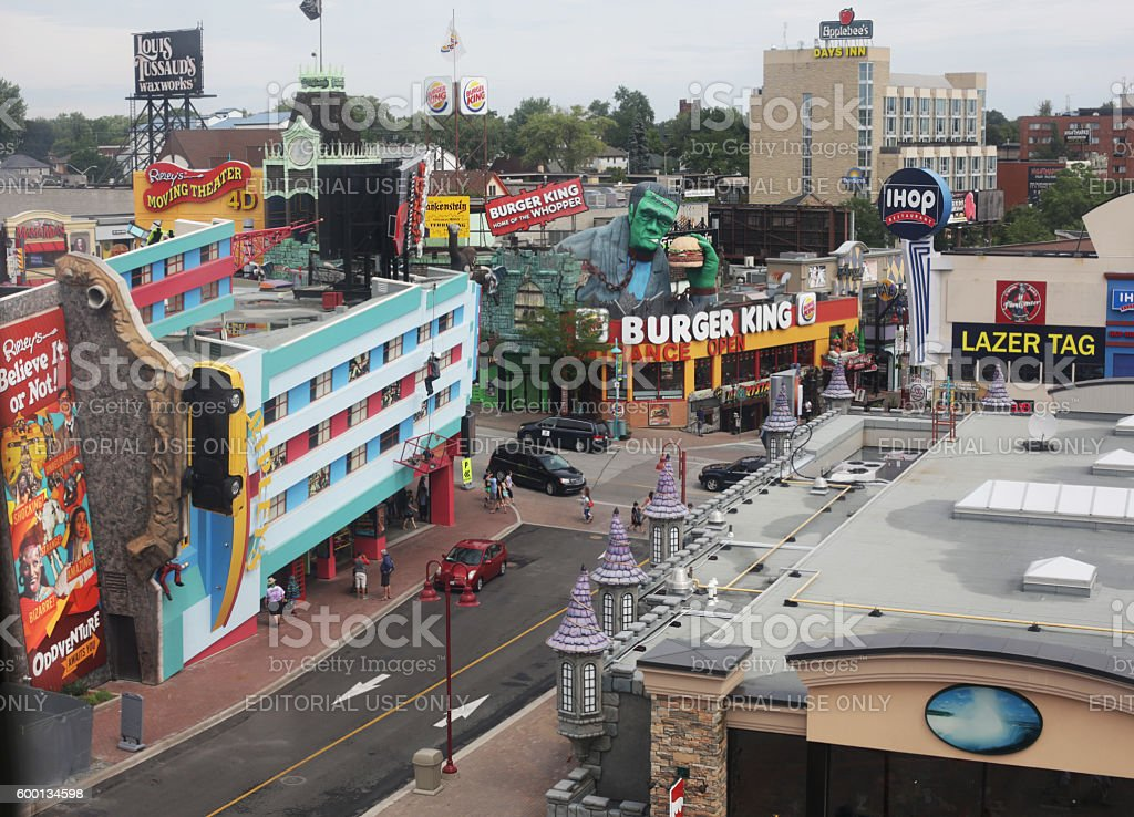 Niagara Falls Attractions, Clifton Hill District, Ontario, Canada stock photo