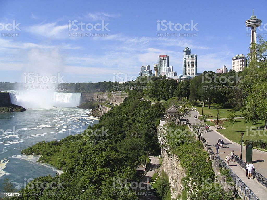 Niagara Falls Belvedere - Canadian side royalty-free stock photo