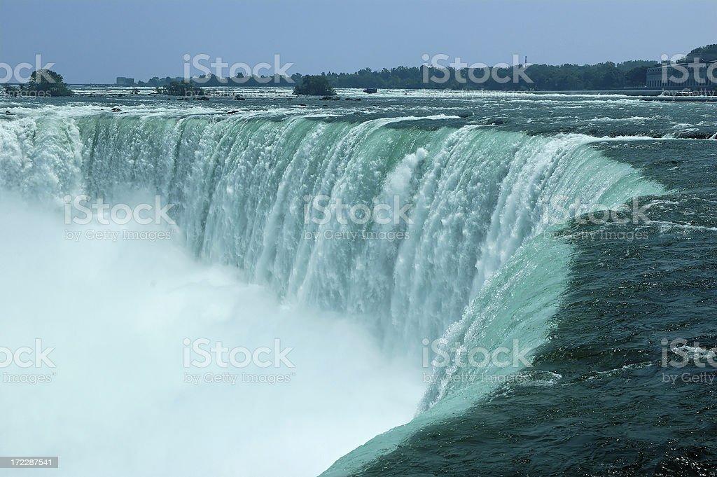 Niagara Falls Canadian Horse Shoe royalty-free stock photo
