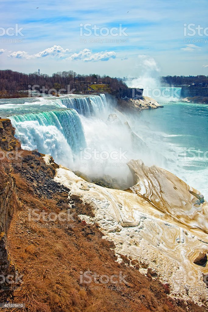 Niagara Falls from the American side stock photo