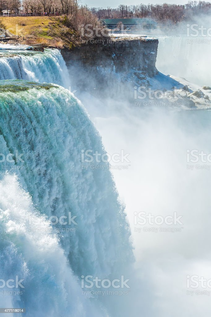 Niagara Falls from the US side stock photo