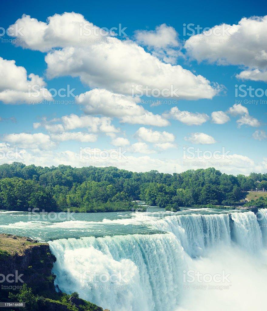 Niagara Falls from the USA side stock photo