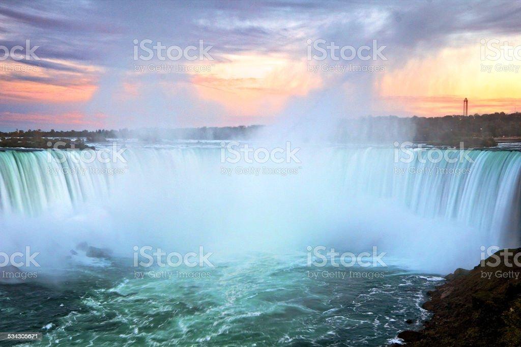 Niagara Falls Long Exposure stock photo