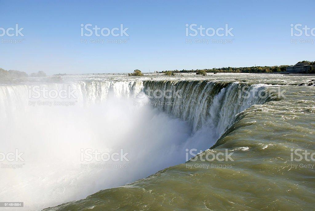 Niagara falls right at the edge royalty-free stock photo