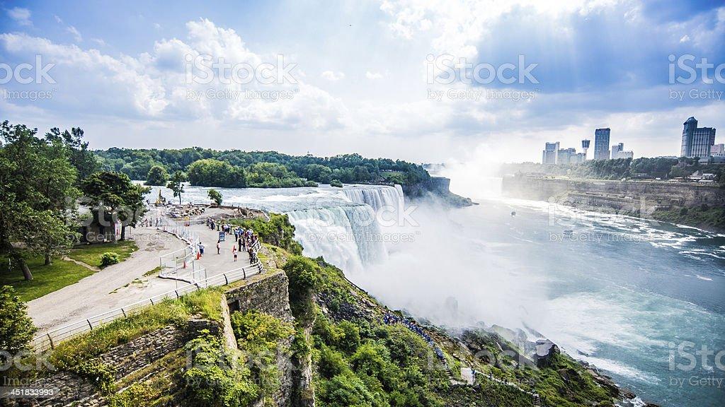 Niagara Falls seeing US and Canada sides stock photo