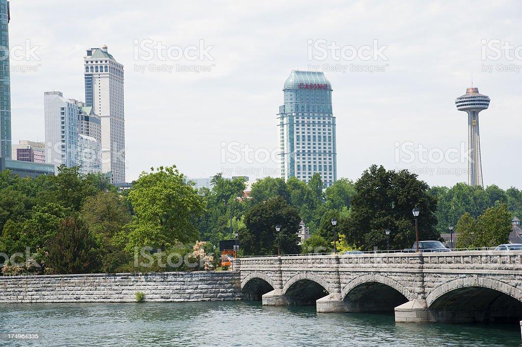 Niagara Falls Skyline royalty-free stock photo