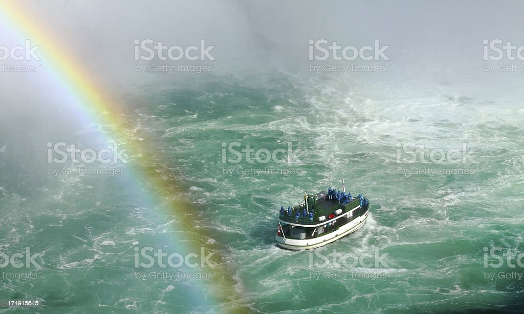 Niagara Falls Tour Boat royalty-free stock photo
