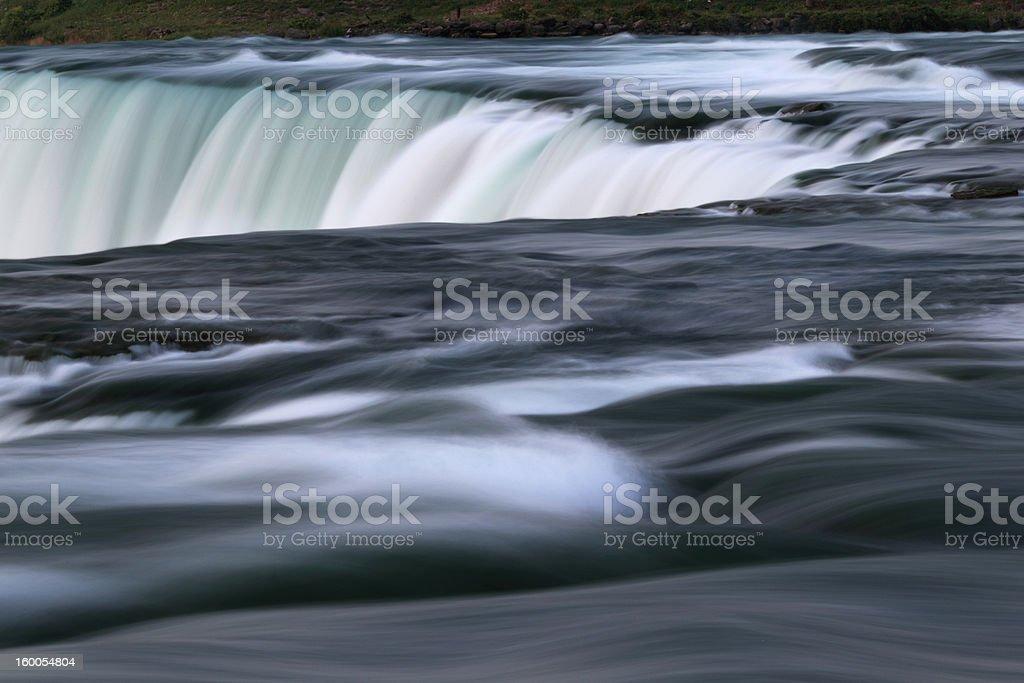 Niagara falls up-close. Long exposure created motion blur. stock photo