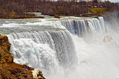Niagara Falls viewed from an American side