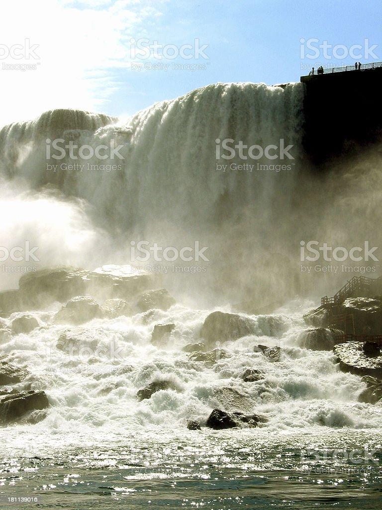 Niagara Falls - Wet and Close royalty-free stock photo