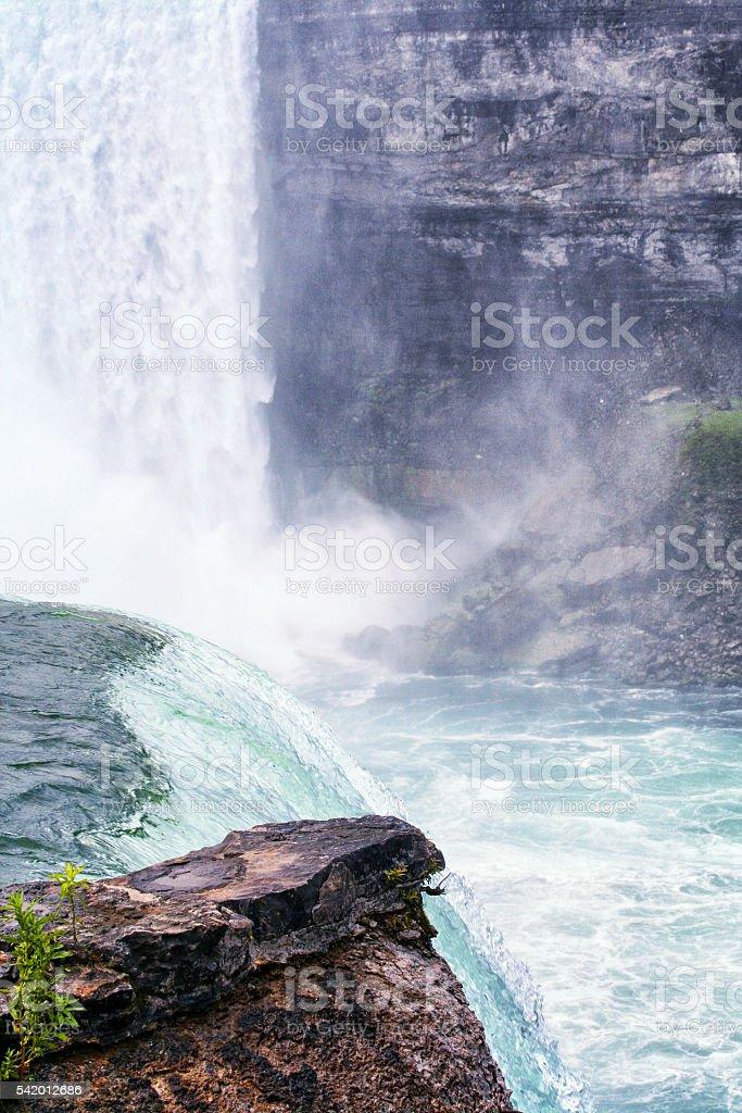 Niagara Horseshoe Falls From Goat Island Terrapin Point stock photo