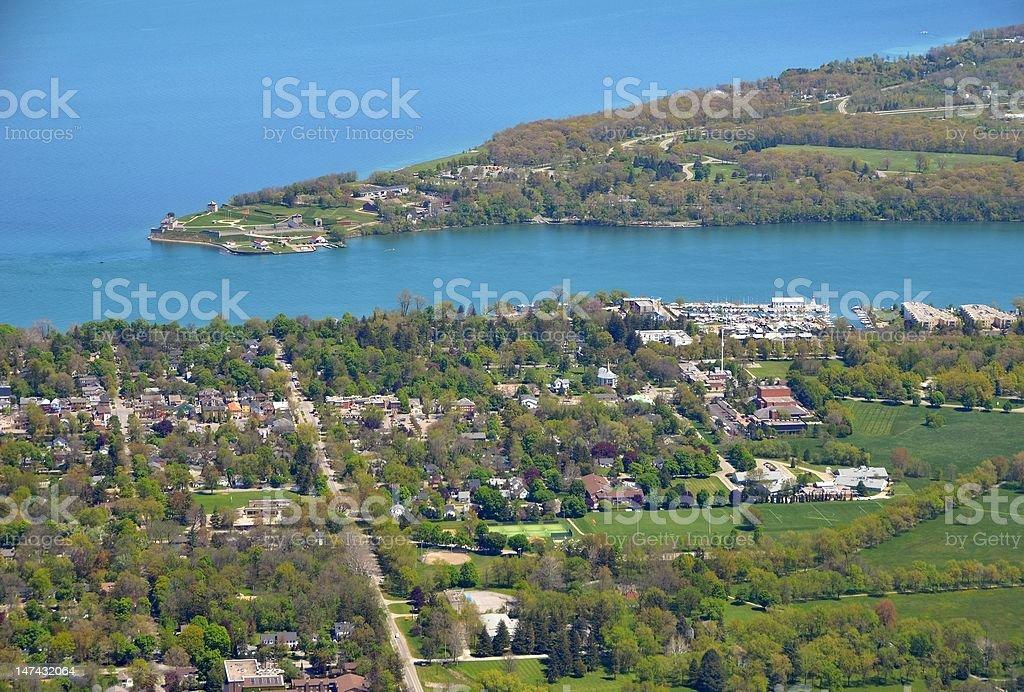 Niagara on the Lake, aerial stock photo