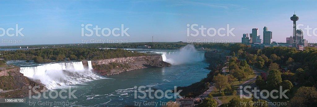 Panorama du Niagara photo libre de droits