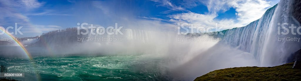 Niagara panorama stock photo