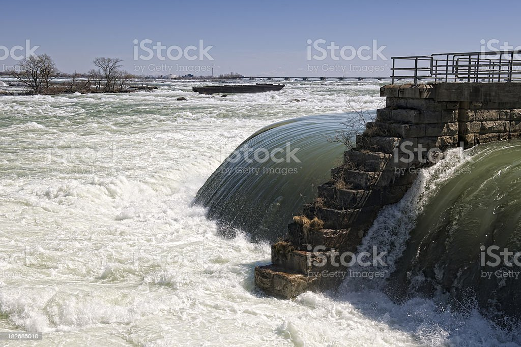Niagara River from the Canadian Side. stock photo