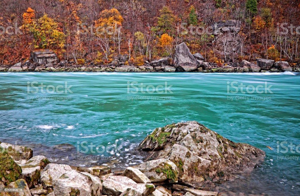 Niagara River Rapids stock photo