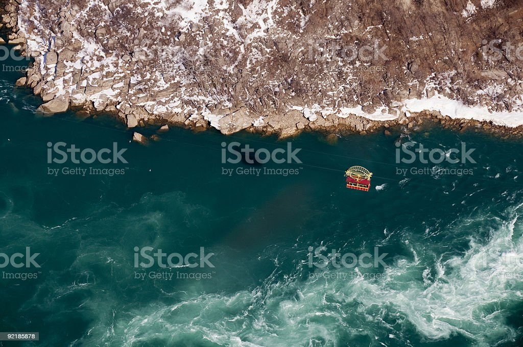 Niagara Whirlpool Cable Car stock photo