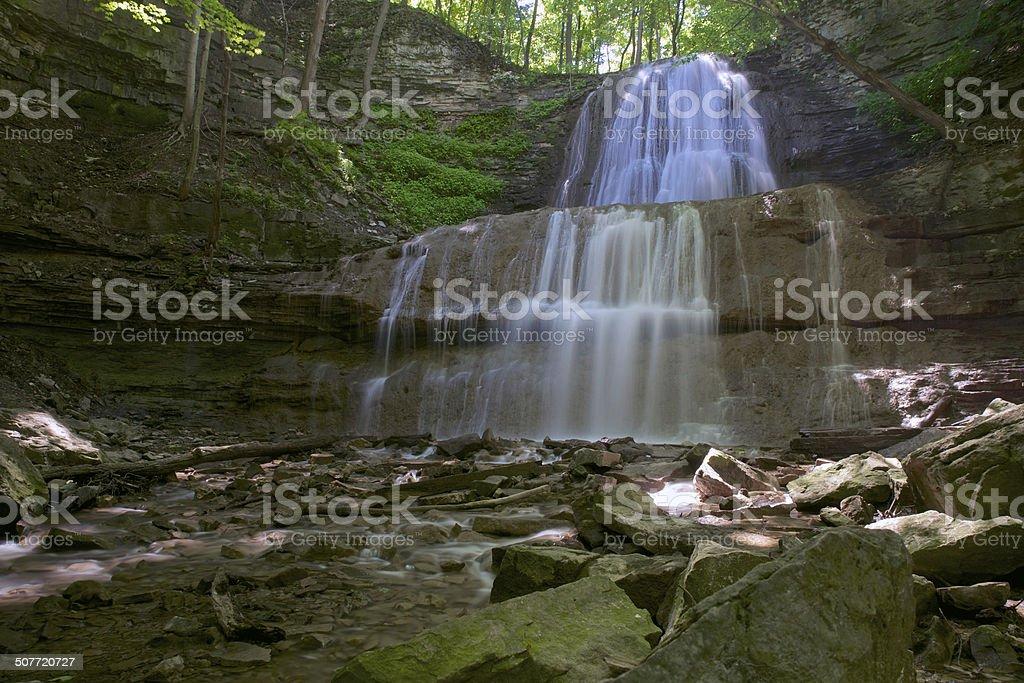 Niagra Escarpment Waterfall stock photo