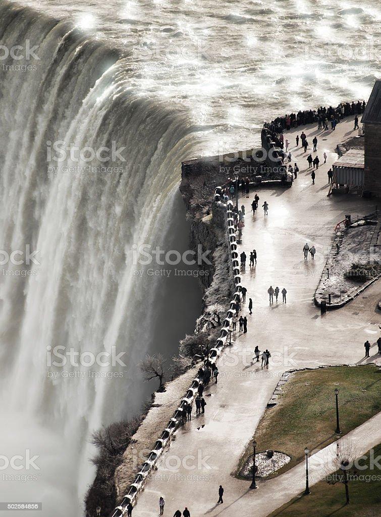 Niagra Falls in winter stock photo