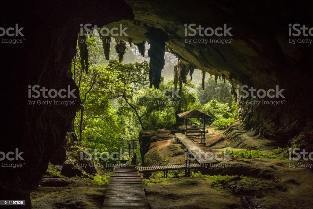 Niah National Park, Niah Cave in Sarawak Malaysia stock photo