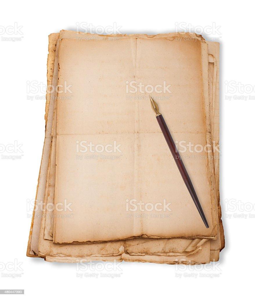 Nib on sheets stock photo