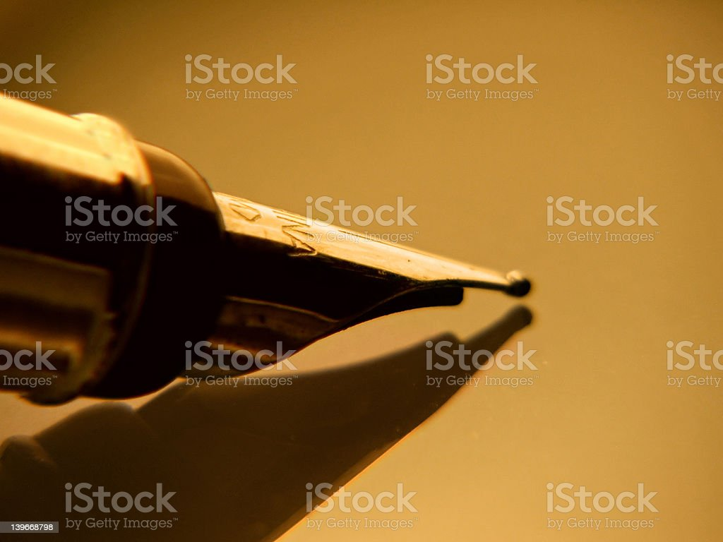 Nib & shadow stock photo