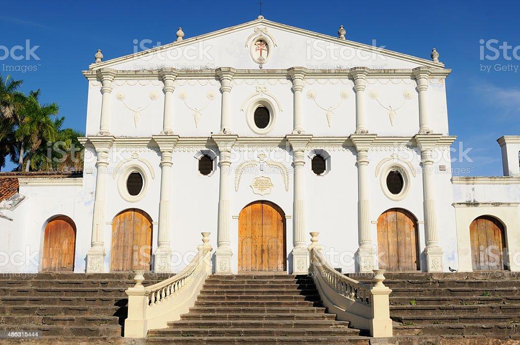 Nicaragua, Church of San Francisco in Granada stock photo