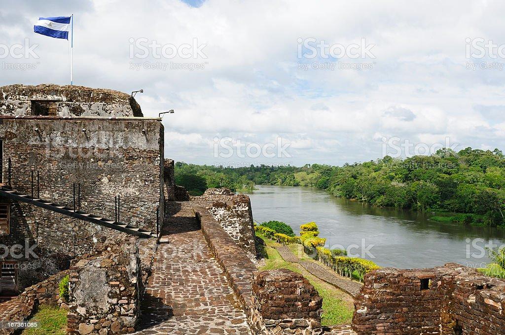 Nicaragua, Fortified castle in El Castillo stock photo