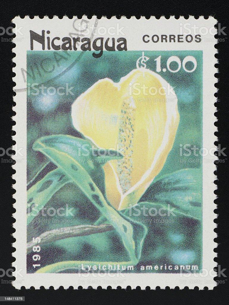 Nicaragua postage stamp stock photo