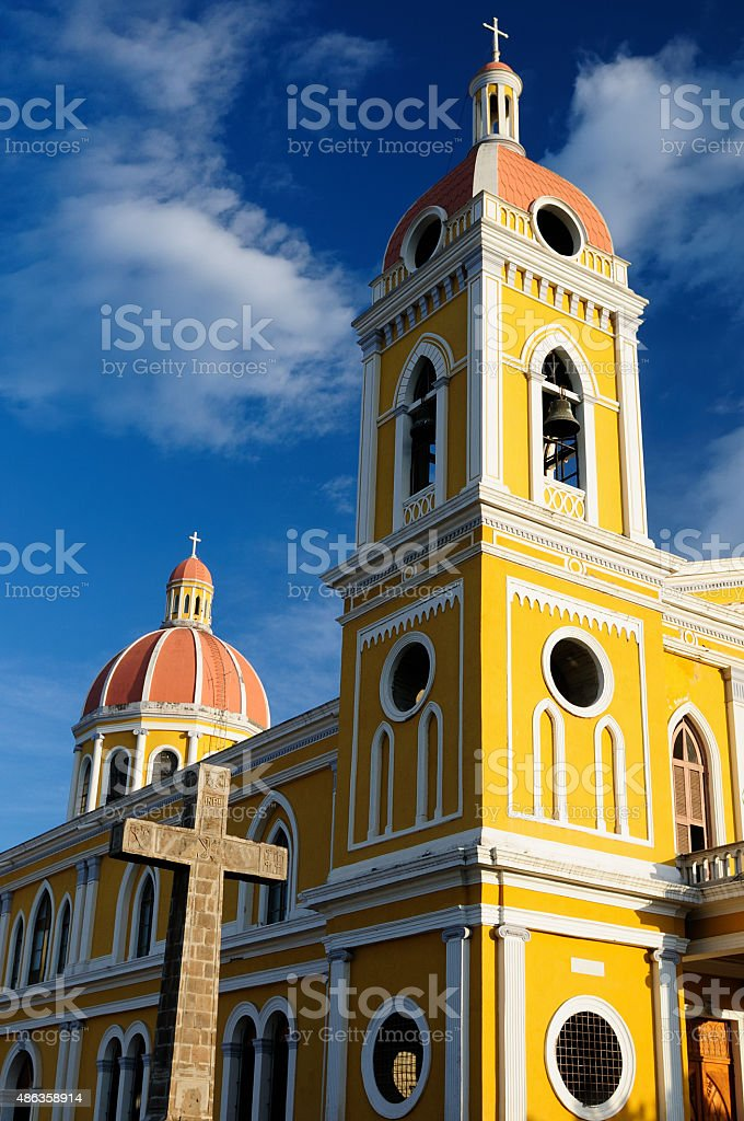Nicaragua, View on the Cathedral in Granada stock photo