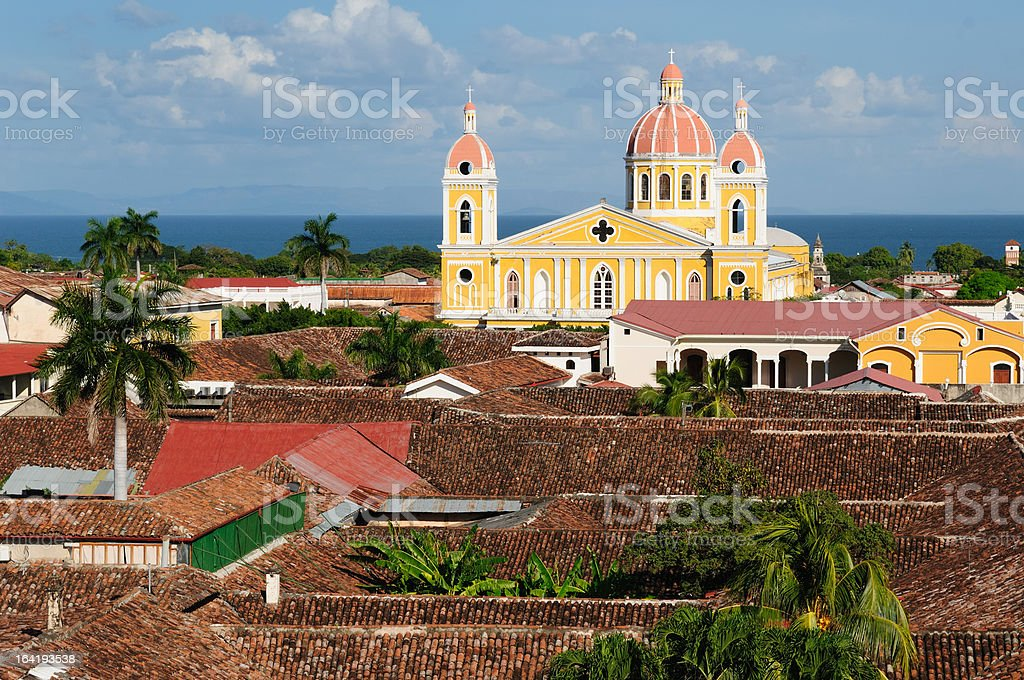 Nicaragua, View on the old Granada stock photo