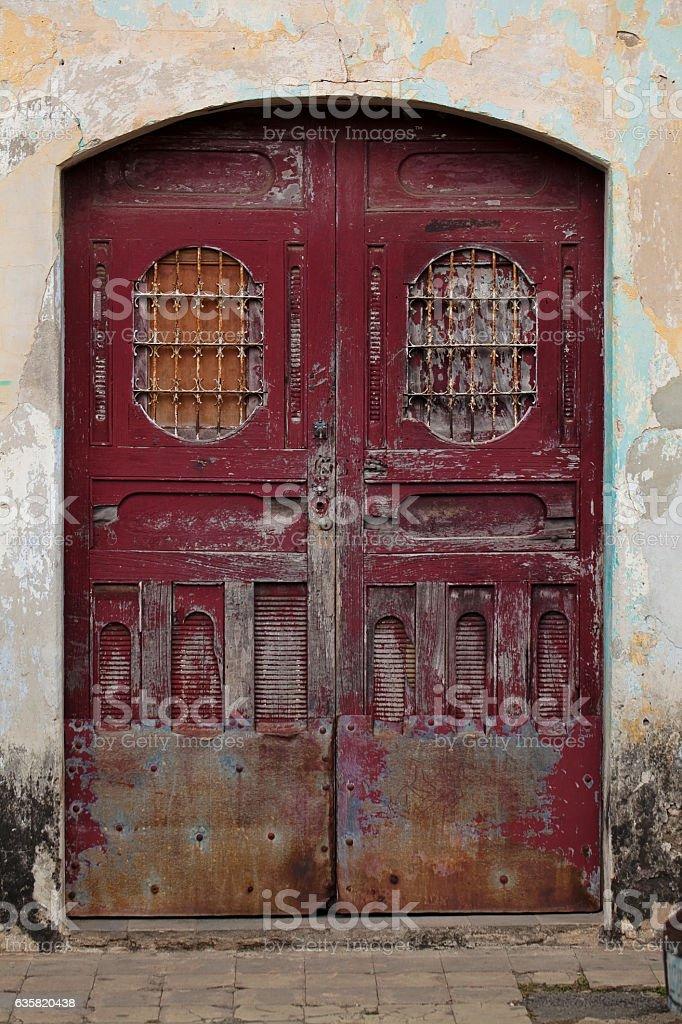 Nicaraguan Door stock photo